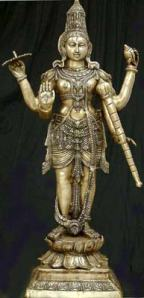 Vishnu dengan 4 tangan sumber www exoticindiaart com